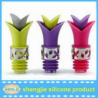 Lily shape Waterproof silicone wine stopper in bulk