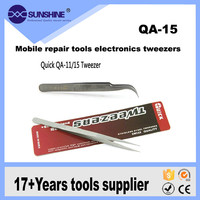 140mm Vetus QA-15 skidproof smart stainless steel curved tweezers for industry
