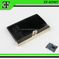 Fashion luxury metal frame promotional new style leather key holder key wallet key bag