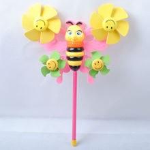Bee shape plastic pinwheel stick for sale