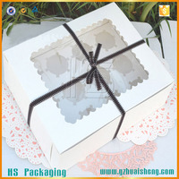food grade white cardboard custom cupcake boxes with paper tray