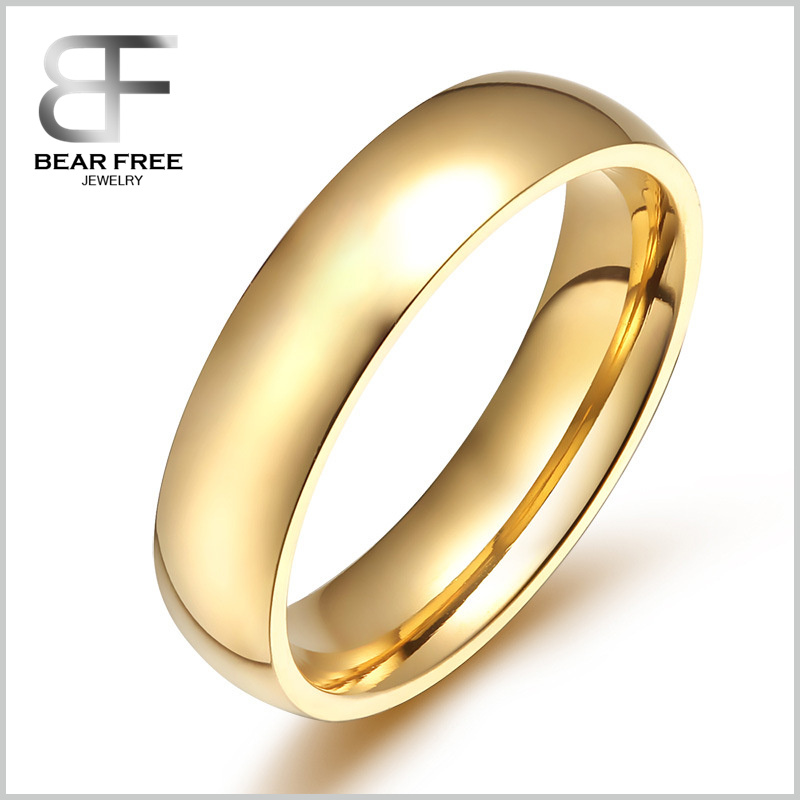 Simple style New Fashion Stainless Steel Band Ring Blanks, Wedding Love Promise Ring