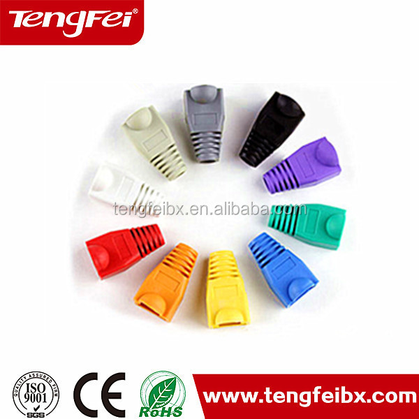 Direct supply RJ45 Network Cable Plug Boots plastic Cap for Cat5e Cat6 rj45 cable boots