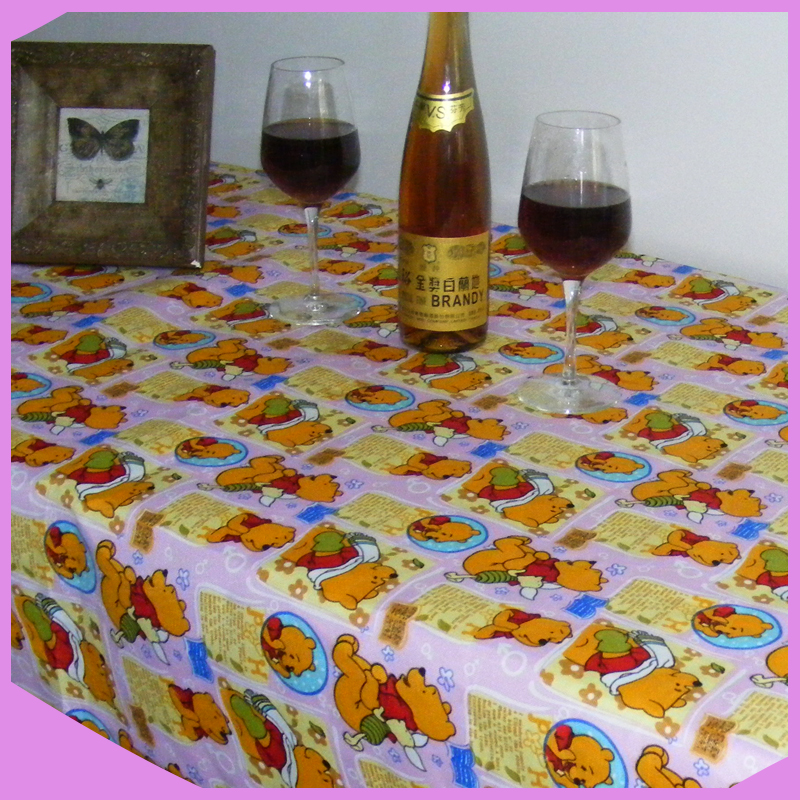 High quality cheap 100% polyester printing sunflower tablecloth