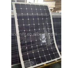 12V 18V 24V Top Quality Bendable ETFE High Efficiency Sunpower Cell Semi Flexible Solar Panel 80W 100W 120W 180W