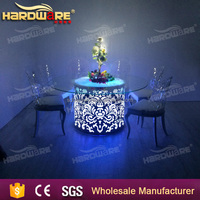 LED Illuminated Modern Pub Cocktail Bar Tables