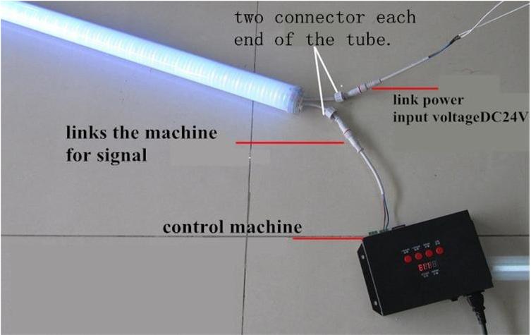 Waterproof IP65 Programmable RGB LED Digital tube light 8w