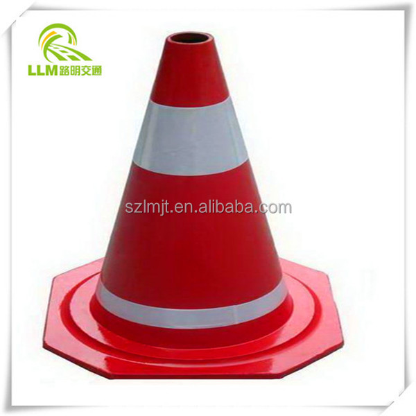 Flexible Roadwork/Worksite safety rubber traffic Cone with 2 reflective bands 900mm