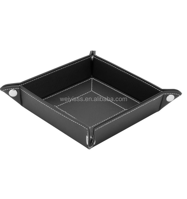 Premium quality coin caddy leather tray wholesale