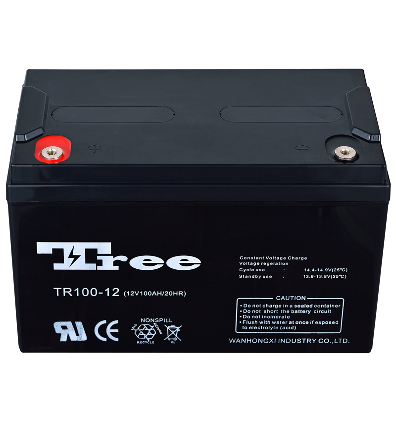 Free maintenance vrla battery 12v 100ah lead acid energy storage battery