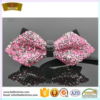 Custom fashion rhinestones neck bow tie