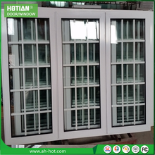 Cheap house window for sale PVC sliding windows vinyl windows and doors with grill design plastic slider window