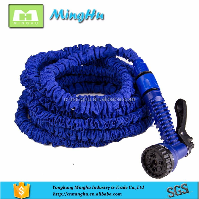 25FT blue, green retractable magic pocket hose with sprayer