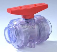 PVC CLEAR Double Uniob Ball Valve