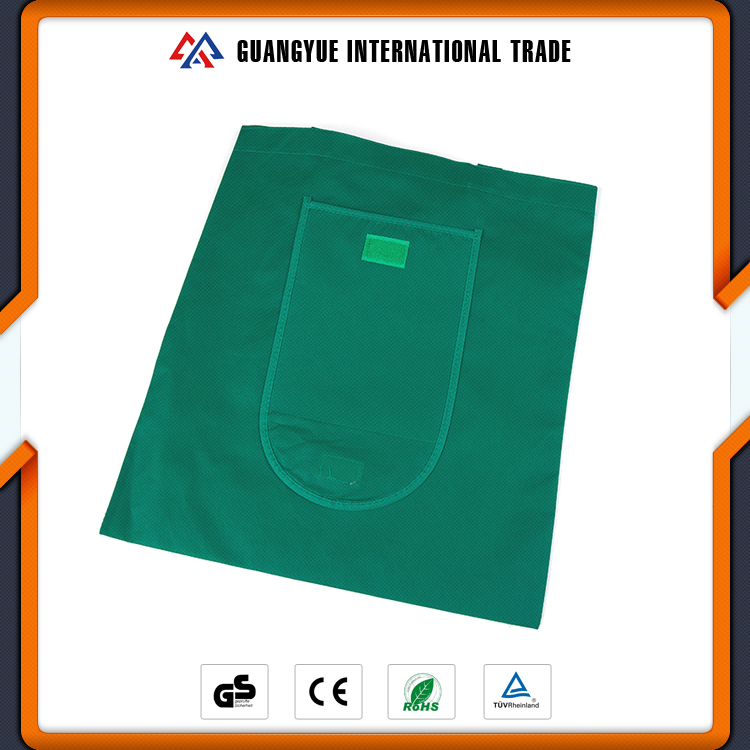 Guangyue Cheap Promotional Green Colour Foldable Non Woven Shopping Bags