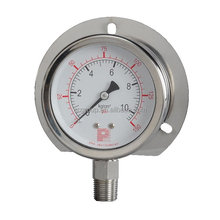 Panel mount stainless steel pressure gauge with flange