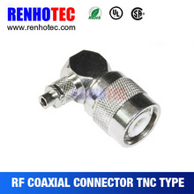 tnc connector 90 degree for cable with dust cap