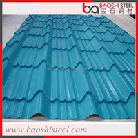Baoshi Steel outdoor leak proof textured performated clear corrugated sheet metal roofing