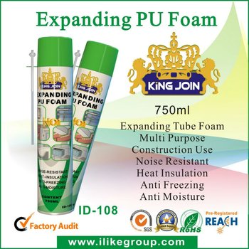 One Component gun type flame retardant sealant pu foam spray
