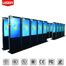 Factory price shopping mall 42 inch floor stand lcd touch screen advertising display 3g wifi with server software