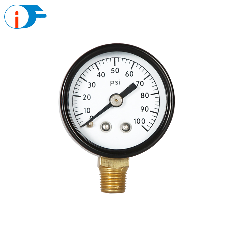 Bourdon Tube No Lead Steel Case Pressure Gauge