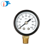 High Quality Custom Bourdon Tube No Lead Steel Case Pressure Gauge