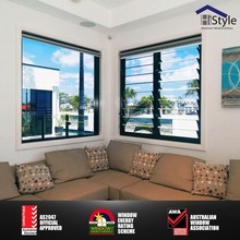 hi style aluminum frame 6mm glass blades openable glass louvre window with louvre frame system