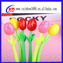 New arrival promotional gifts silicone flower shape pen decorative silicone cute ballpoint pens for promotion