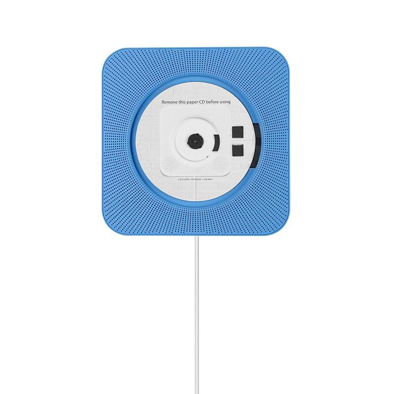 Black Smart CD Player Wall Mounted Bluetooth3.0 Remote FM Radio HiFi Speakers