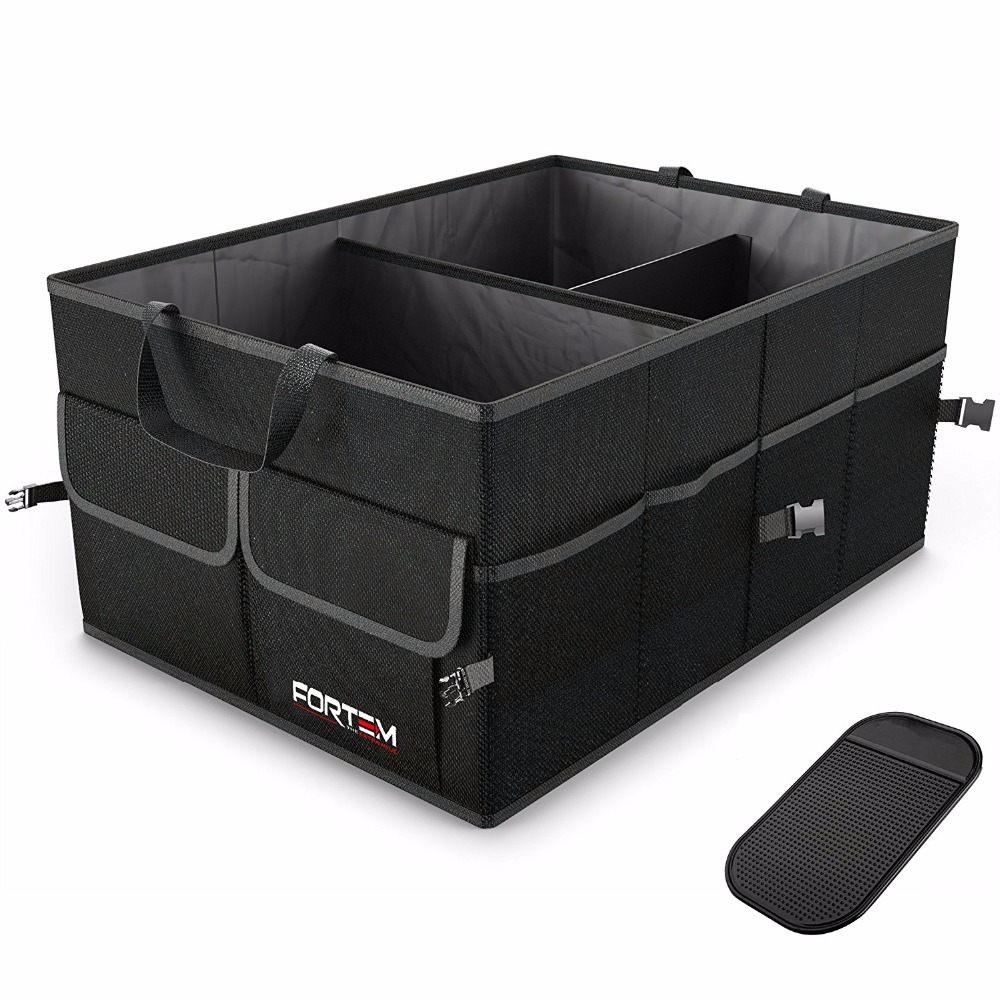 Premium Quality Auto Trunk Organizer For Car, SUV, Truck Durable Portable Cargo Storage Non Slip Bottom Strips to Prevent slid