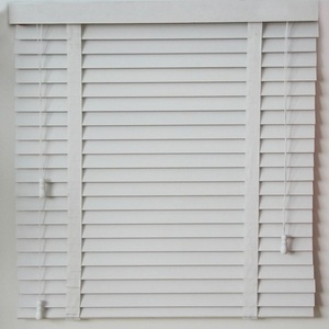 Elegant Pvc Roll Up Window Basswood Faux Wooden Blind Wood Shutters
