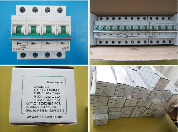 DC MCB High Quality Miniature Circuit Breaker IEC, TUV, SAA,CE Certificate Solar Photovoltaic DC Suntree Breaker