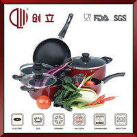 Non-stick decal enamel cookware set