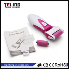 New design shape 2XAA battery opearted foot scrub callus remover