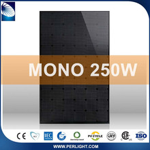 Rooftop mount Excellent Material Mono Placa Panel Solar Fotovoltaico 250W