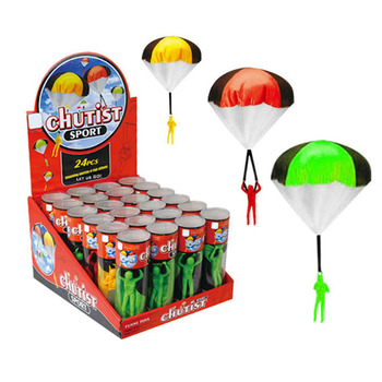 Promotional mini play parachute toy with doll chutist for kids