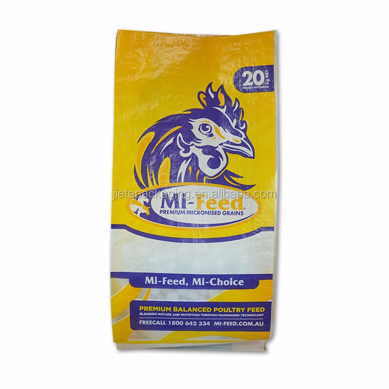 Top grade quality eco-friendly custom printed and laminated livestock, dairy cattle feed bag for sale