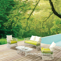 Foshan patio furniture white synthetic rattan outdoor furniture