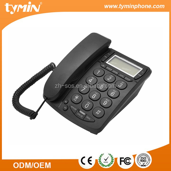 Basic wall mountable land line big button phone with call id display (TM-PA036)