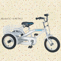 Hot sale tricycle with a rear basket single speed GW7013 3 wheel tricycle for children