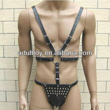 gimp belt for male sex toy leather body suit