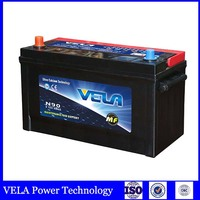 korea brands car battery N90 car battery maintenance free