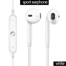 VERY porpular sport bluetooch eaphone s6 headset mini and weigthless running wireless in-ear