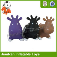 eco-friendly pvc animal hopper cow toy
