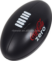 9x15cmL PU material foam stress rugby ball/promotional toy style PU stress rugby ball/funny toy & kids gifts PU stress rugbyball