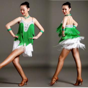 Sexy Strappy Tassel Latin Dress Tango Costume For Women - Buy Dance ...