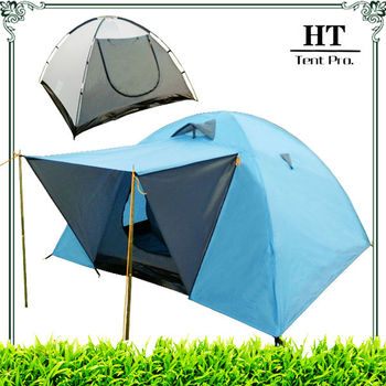 51 Inch Tall 2 Person Double layer Dome Tent with Canopy