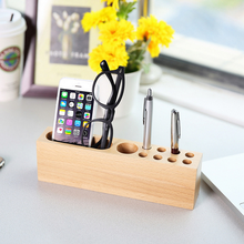 wooden wood pen holder desk organizer