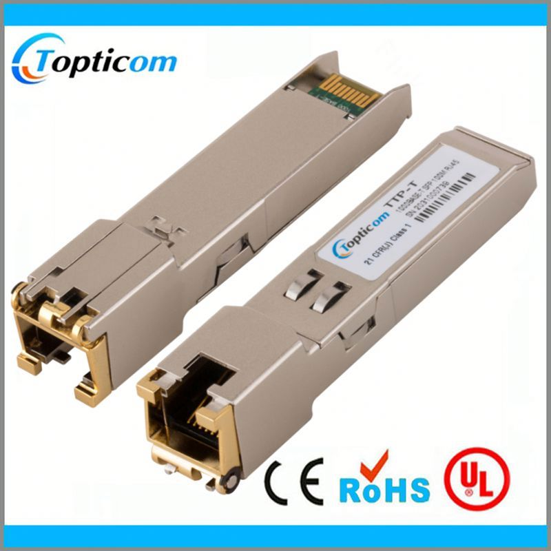 copper transceiver rj45 connector sfp module housing to dual port network card