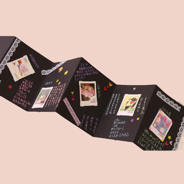 Guangzhou Factory 6x8 Handmade DIY Black Page Scrapbook 3 Ring Binder Album De Fotos